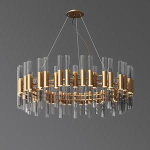 waterfall suspension chandelier luxxu 3D model