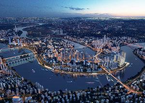 city architectural cityscape model