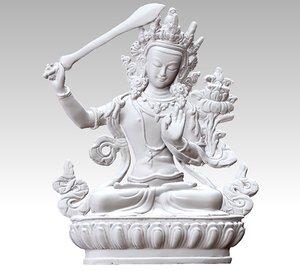 3D manjusri bodhisattva