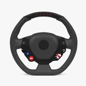 sport steering wheel 3D model