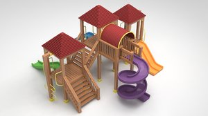 3D garden playground furniture model