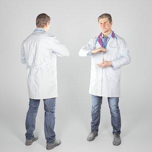 man uniform medical doctor 3D model