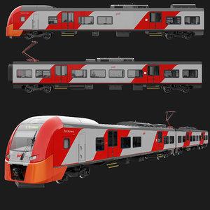 3D model siemens train lastochka