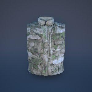 3D military vest model