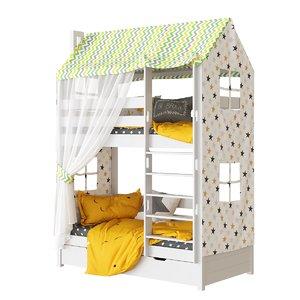 3D children s 2-tiered bed