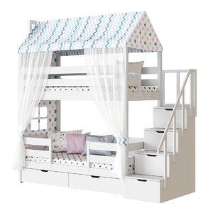 children s 2-tiered bed 3D model