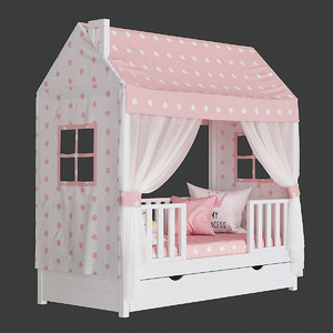 3D children s bed house