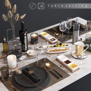 serving dried flowers 3D model