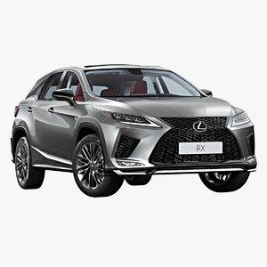 2020 lexus rx 3D model
