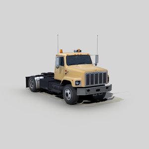 3D model international 2654 semi truck