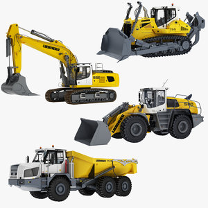 3D liebherr construction machines