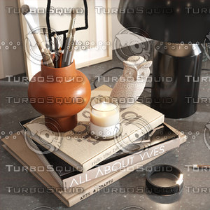 3D lamp book candle model