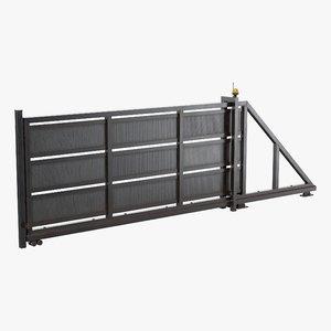 gate sliding 3D model