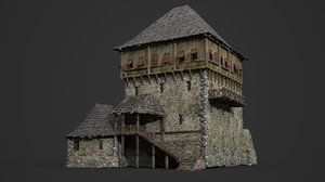 ancient tavern inn 3D model