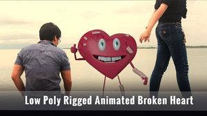 cartoon character heart broken 3D