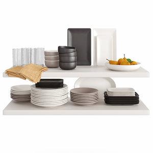 kitchenware tableware 12 3D model