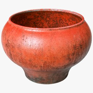 3D scanned clay pot