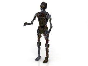 3D c3p0 c3po droid character model