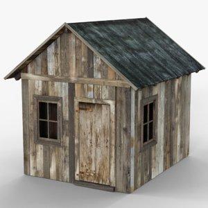 wooden cabin model