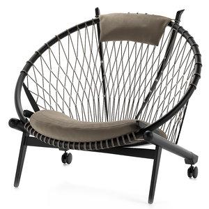 pp chair circle 3D model