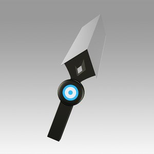 valorant jett knife 3D model