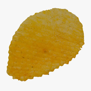 3D cheese chips 01 raw model