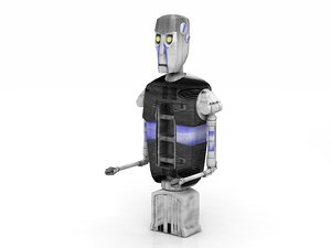 chee 8d8 droid robot 3D model