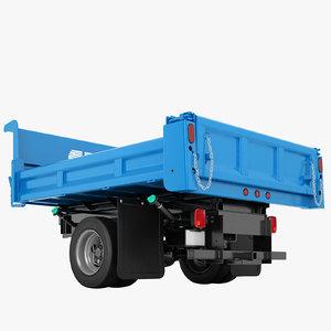 3D model flatbed dump truck