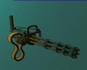 3D model asst gun