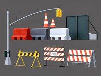 Traffic barriers set