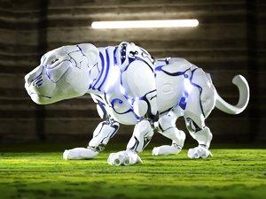 robot panther sci fi 3D model