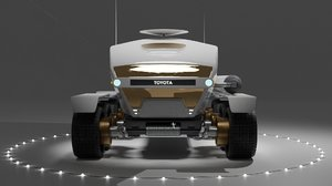 space toyota rover mars model