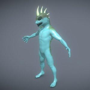 sea lake creature 3D model