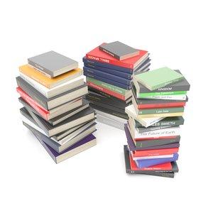3D model stack books