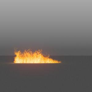 burning flames 13 vdb 3D model