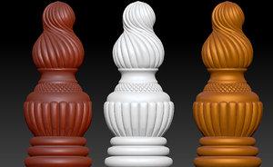ornament legs modeled furniture 3D model