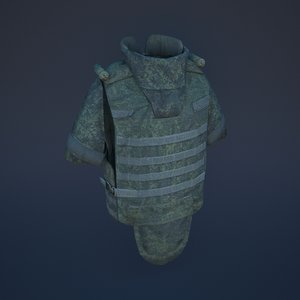 bulletproof vest body armor 3D model