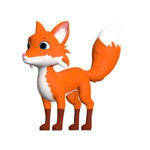 cartoon fox model