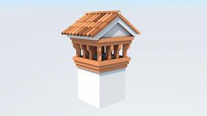 3D italian chimney model