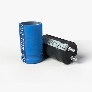 covered capacitor 2k pbr 3D model