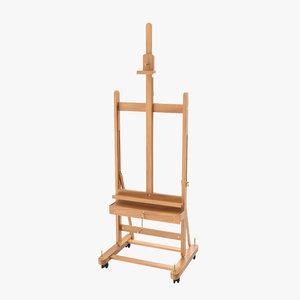 3D studio easel wooden artwork