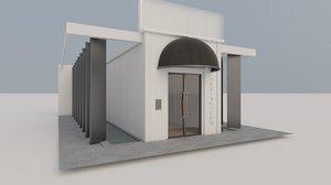 interior exterior art museum 3D