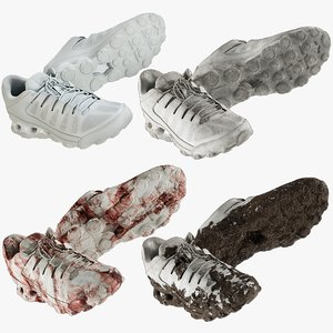 3D realistic sneakers collections model