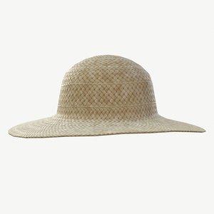 straw hat 3D model