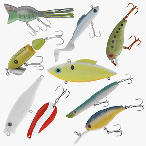 3D 9 fishing lure model
