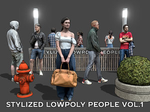 stylized people casual pack model