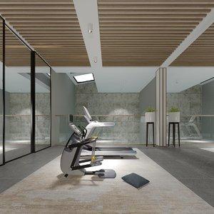 home gym cardio machines 3D model