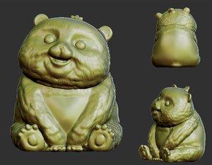 3D panda bear animal