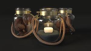 3D jar candle