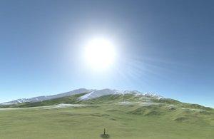 mountain range 3D